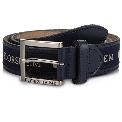 Florsheim Branded Leather Belt