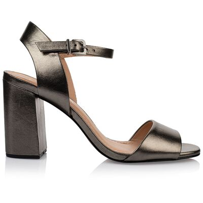 GIANNA Ladies Metallic Block Heel