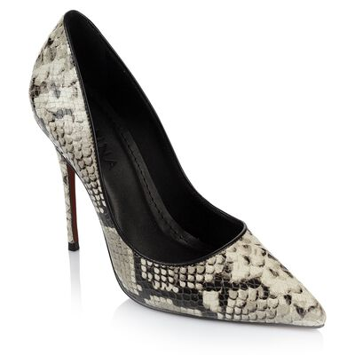 GIANNA Ladies Python High Court Heel