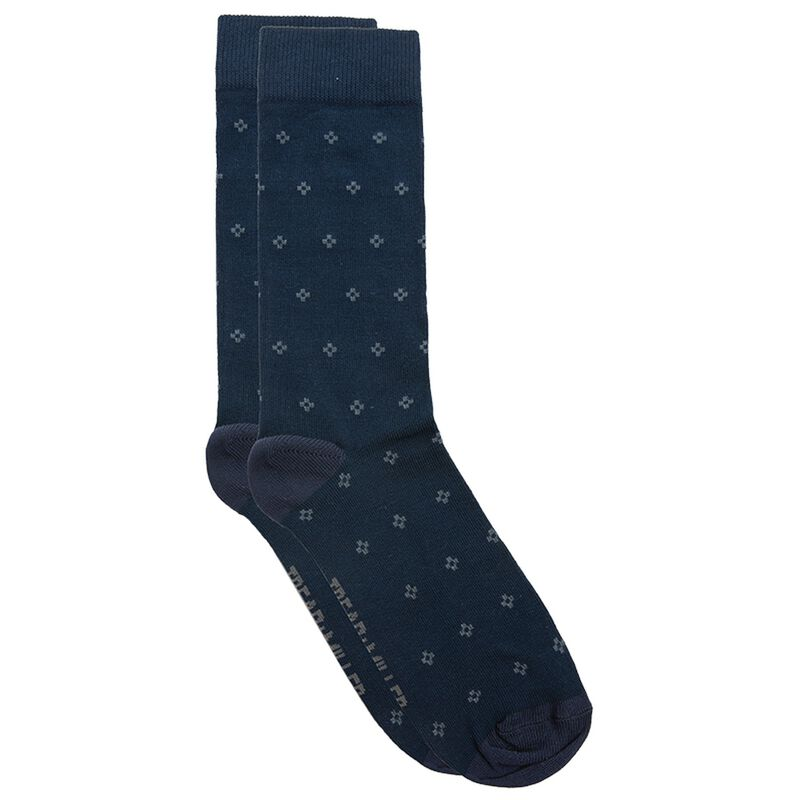 Tread & Miller Diamond Sock -  navy-charcoal