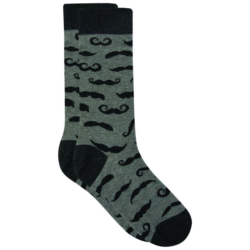 Tread & Miller Lindevu sock -  lightgrey-black