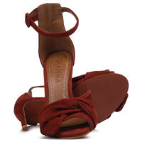 GIANNA Ladies Wrap Vamp Stiletto Heel -  rust