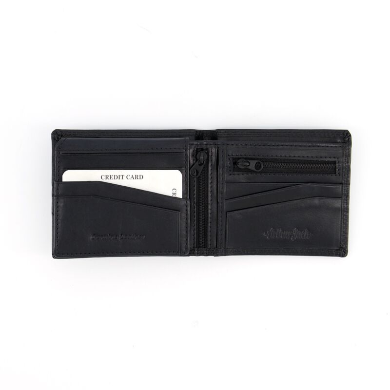 Arthur Jack Monaco 2 Leather Wallet -  black-black