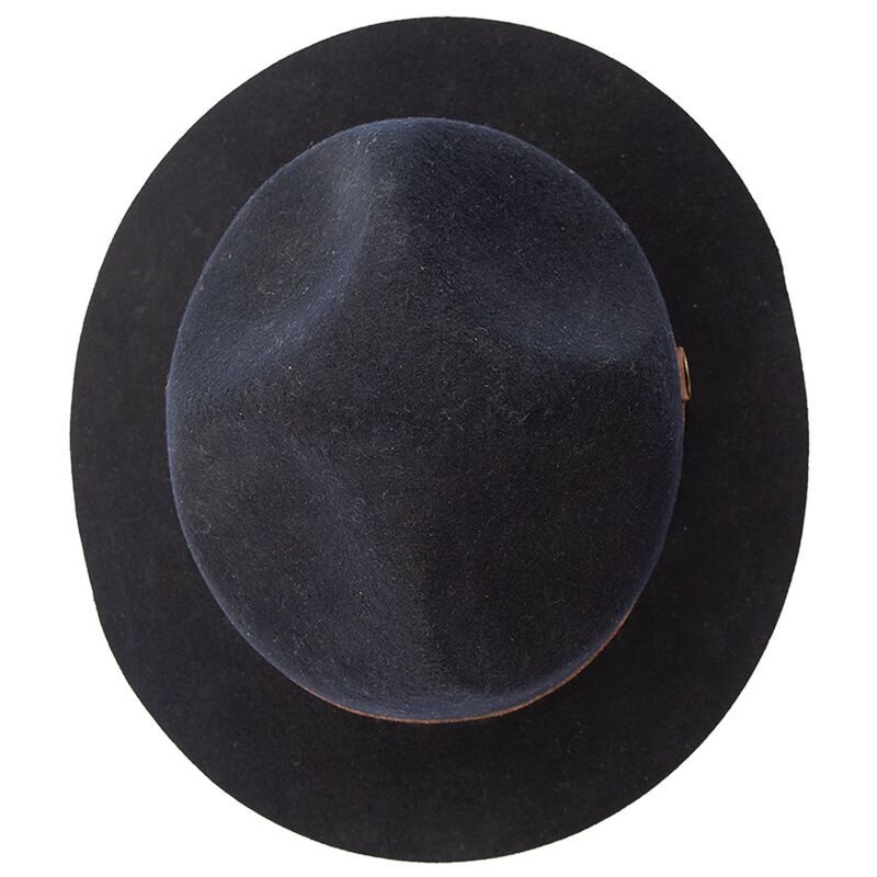 Simon & Mary Short Brim Mounty Hat -  navy-brown