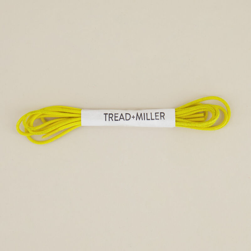 Tread & Miller Wax Cotton Shoelaces -  yellow