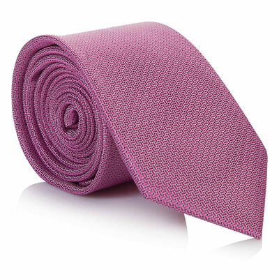 Tread & Miller Charlston Pink Men's Silk Tie