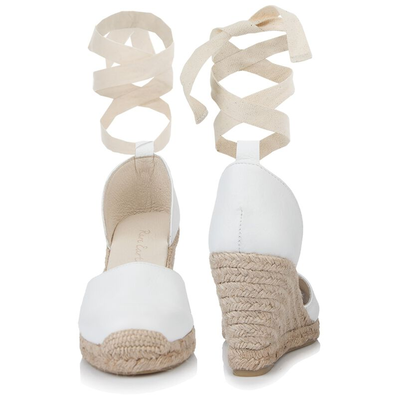 Rare Earth Ladies Chiara Wedge -  white