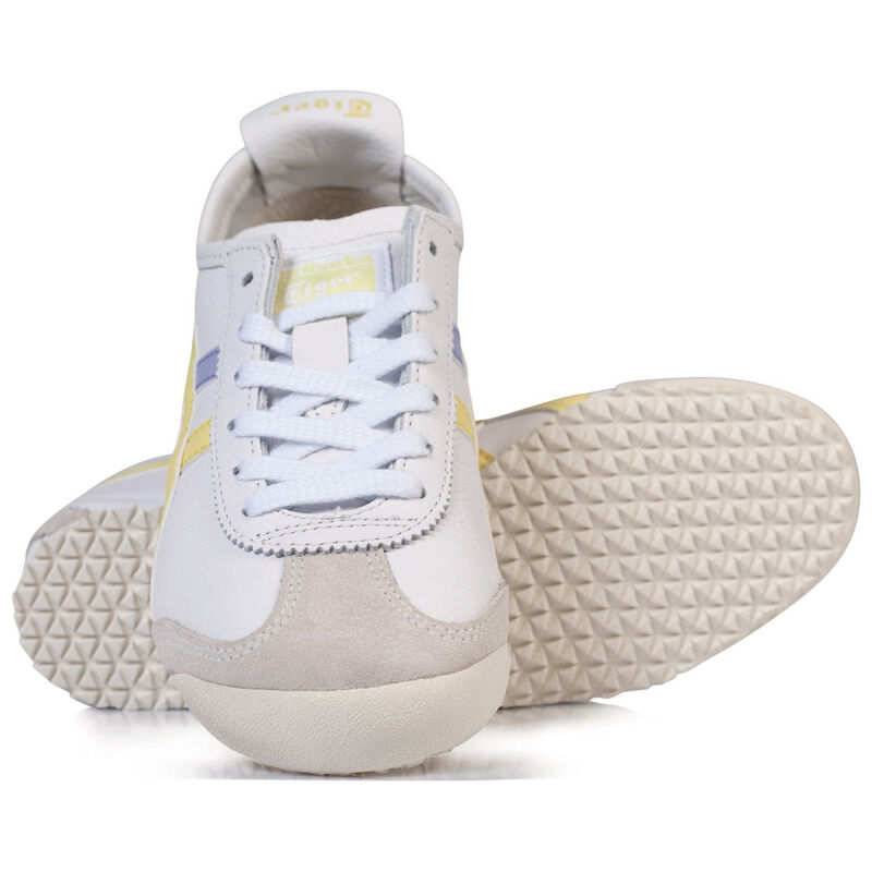 Onitsuka Ladies Tiger Mexico 66 Shoe -  white-yellow